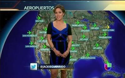 Jackie Guerrido le teme a las bajas temperaturas