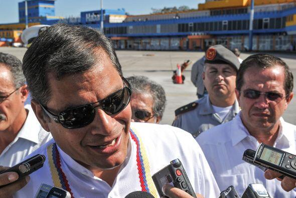 El presidente de Ecuador, Rafael Correa, llegó a Cuba para visita...