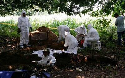 Hallan varios cuerpos en fosas clandestinas en México