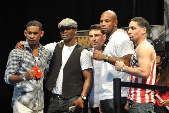 Varias figuras del boxeo, como Bernard Hopkins, Seth Mitchell, ´Chiquita...