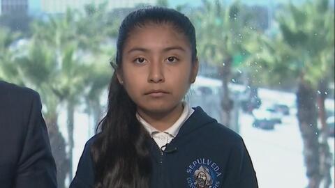 Una niña de 13 años que lucha para que su padre no sea deportado le enví...