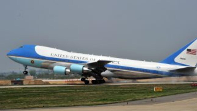 El Air Force One, el avión del Presidente de Estados Unidos.