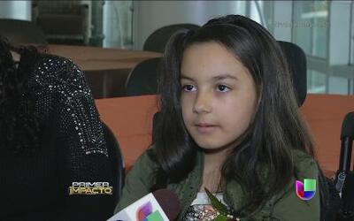 Una niña hispana se convirtió en un ejemplo de voluntad