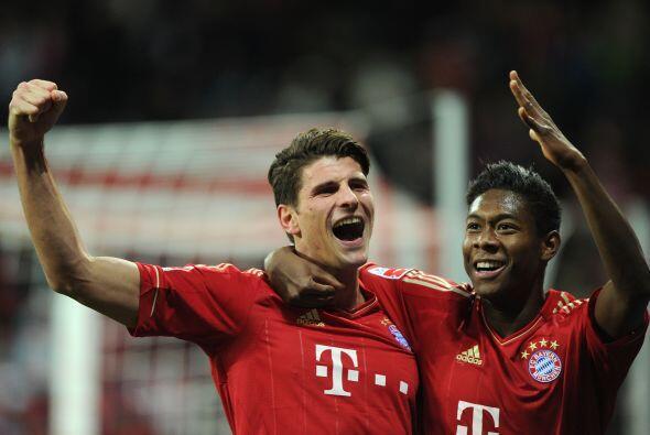 Faltaba el gol del imparable Mario Gómez, que marcó el 3 a...