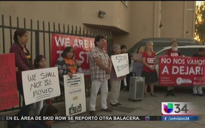 Residentes de Boyle Heigts protestan contra aburguesamiento