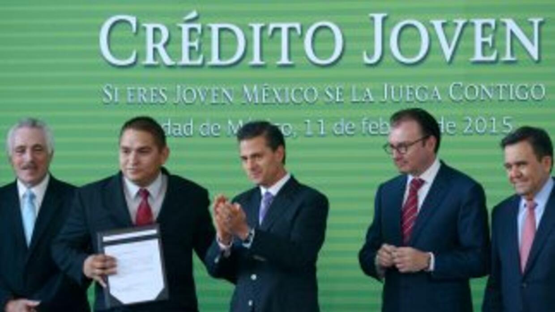 El presidente mexicano Enrique Peña Nieto en el anuncio del programa.