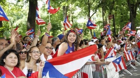 El Desfile Nacional Puertorriqueño en Nueva York en junio de 2015.