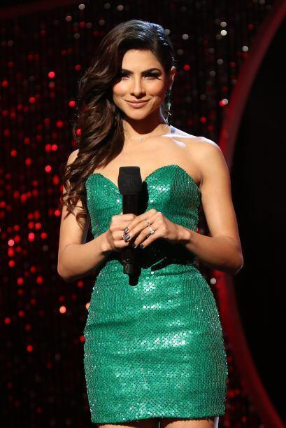 Eligió este vestido verde de Rosita Hurtado.