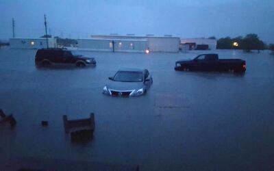 Inundaciones en Danbury, Texas