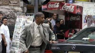 Denzel Washington en la grabación de 'Man on Fire' realizada en México.