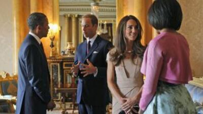 Guillermo y Catalina con los Obama