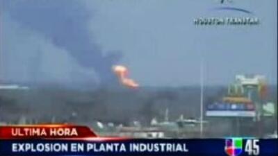 Explosión planta