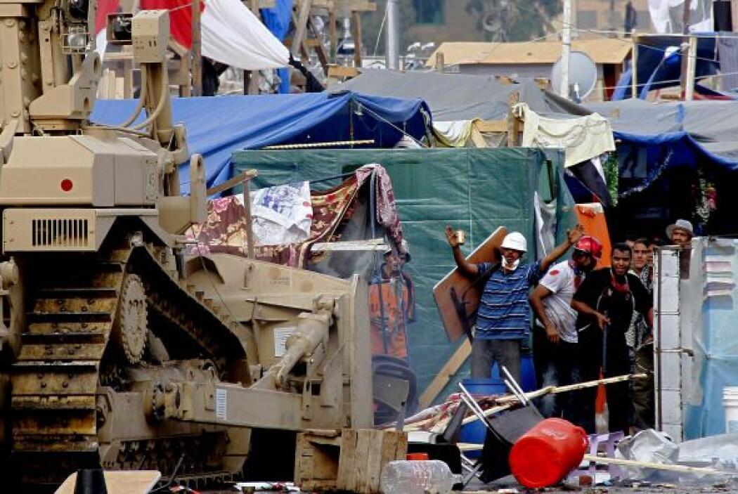 Los plantones que fueron desalojados violentamente en El Cairo eran dos