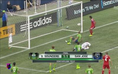 S.Sounders empató a 1 con San José