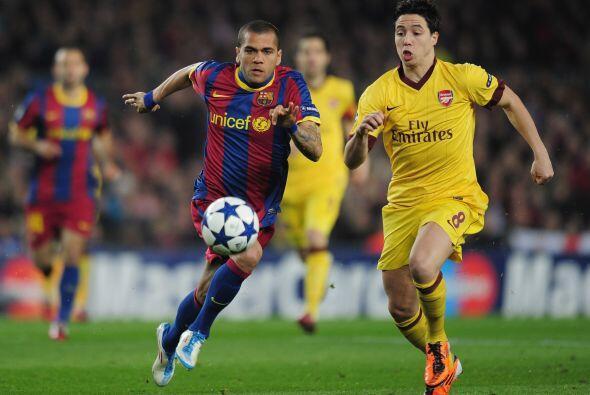 Los 'blaugranas' recibieron al Arsenal en el Camp Nou para el duelo de V...