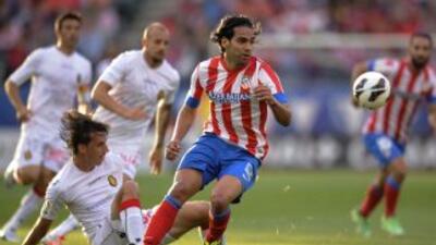 El Mallorca mantuvo a Falcao sin anotarles, pero se jugarán la salvación...
