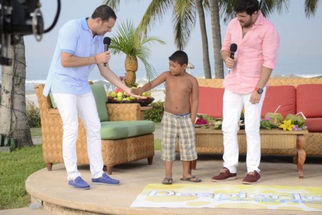 Por eso, un pequeño fue a mostrar sus habilidades al show.