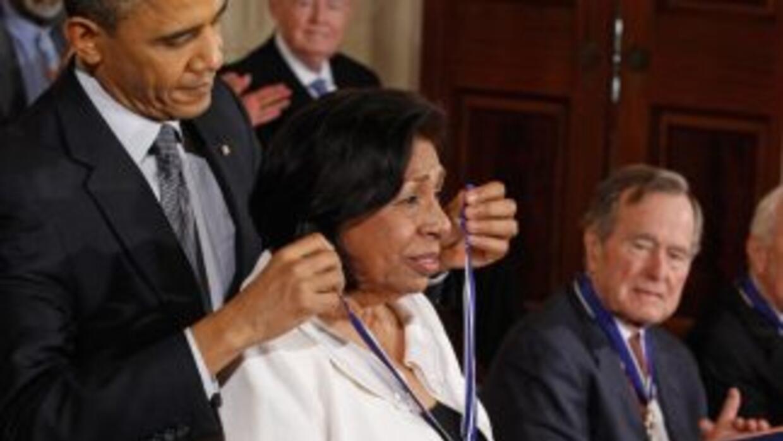 El presidente Barck Obama otorgó a Méndez la Medalla de la Libertad, la...