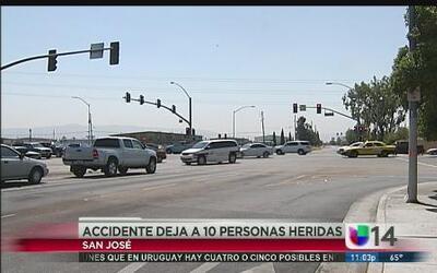 Accidente en San José deja 10 personas heridas