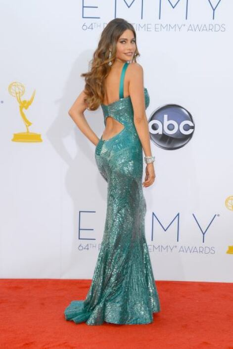Sofía Vergara llegó enfundada en un hermoso vestido a la gala de los pre...