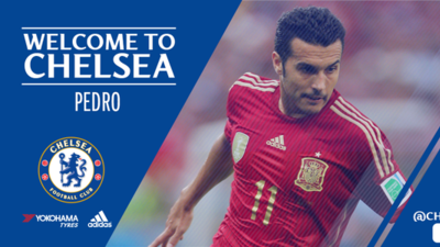 Imagen de bienvenida del Chelsea a Pedro.