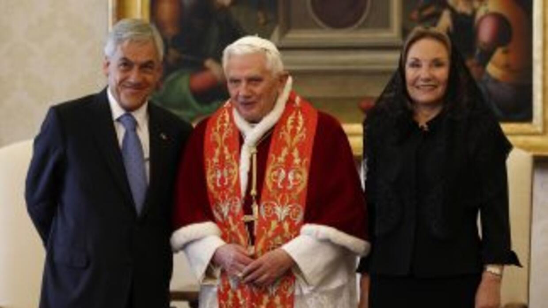 Sebastian Piñera y Benedicto XVI.