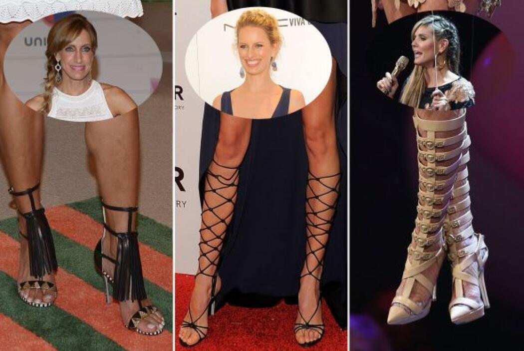 Las sandalias tipo gladiador han hecho que varias mujeres queden rendida...