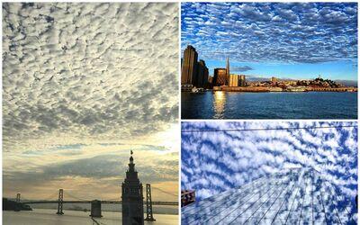 El cielo, protagonista en el área de la bahía