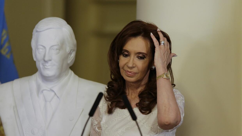 La expresidenta de Argentina,Cristina Fernández, en una imagen de 2015...