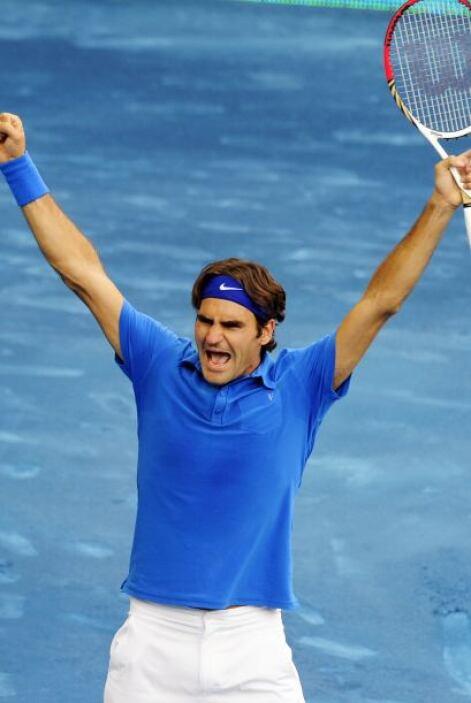 Ahora, Federer es el rey de la pista azul, al ganar con parciales de 3-6...