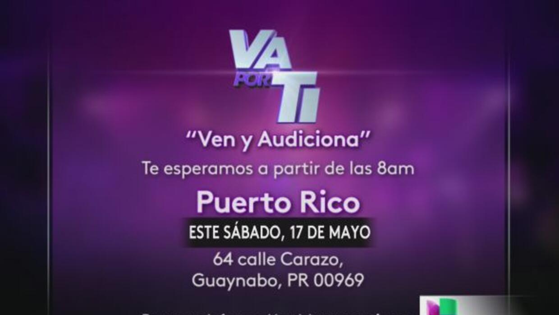 Tienes una cita en los predios de Univision Puerto Rico en la calle Cara...