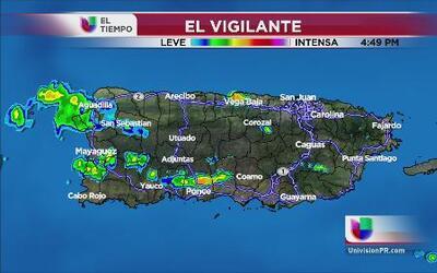 Se espera lluvia para mercar el calor en Puerto Rico