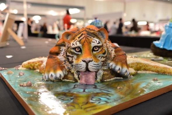 """Y este tigre, no estará """"tomando agua"""" por mucho tiempo."""