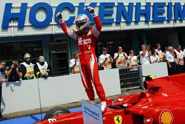 Alonso logró así su segunda victoria de la temporada F&oac...