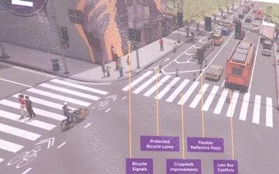 Anuncian un plan para mejorar la seguridad de los peatones y ciclistas e...
