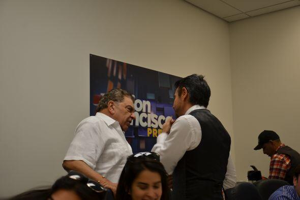 Eugenio Derbez y Don Francisco se encontraron desde muy temprano en los...