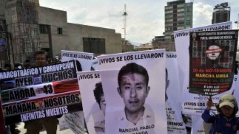 Estudiantes desaparecidos de Ayotzinapa.