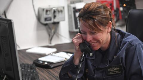 Cmdr. Andria L. Slough, comandanta del destructor USS Porter