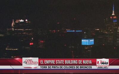 Empire State de Nueva York se pinta de colores de Broncos