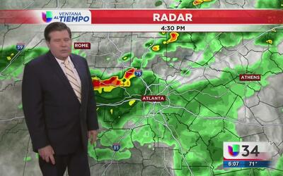 Cielos nublados y lluvia en Atlanta