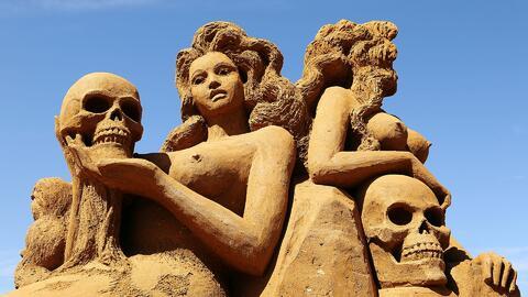 Mira estas increíbles esculturas de arena en las playas de Coney Island