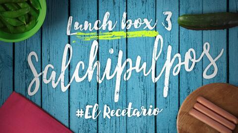 Salchipulpos, edamames y agua de pepino (Día 3) - 23 ideas para lunch bo...