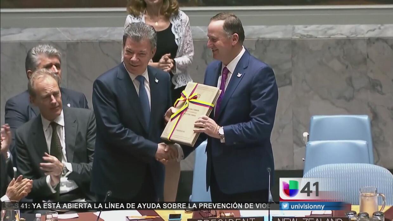 Juan Manuel Santos promete paz en Colombia ante la Asamblea General de l...