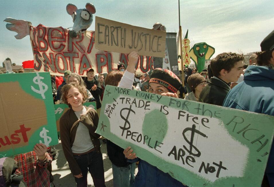 Nafta Protesta en canadá 22 de abril de 2001