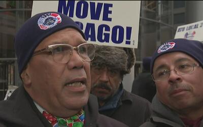 Empleados de la CTA de Chicago protestaron y pidieron un contrato justo
