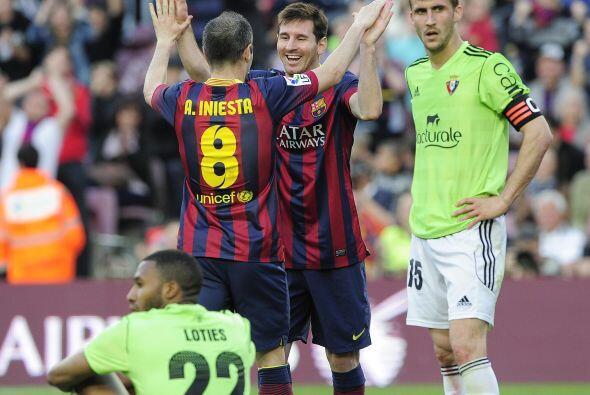 Pero Messi no se iría sin lograr su triplete y poner el 6-0 parcial.