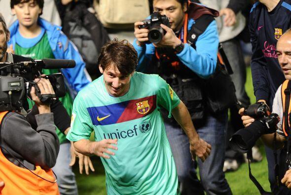 Al termino del partido, las cámaras se dirigían a Lionel Messi, el astro...