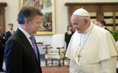 Santos y el papa