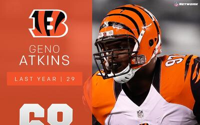 #68 Geno Atkins (DT, Bengals) | Top 100 Jugadores 2017
