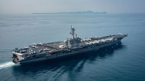El portaaviones Carl Vinson podría llegar a la Península de Corea a medi...